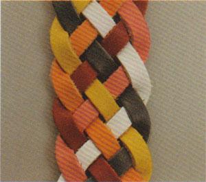 Six-string flat braided leather