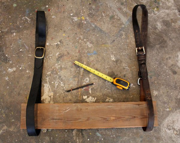 fasten two leather belts