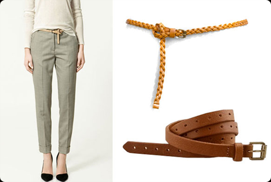 Knotted, Skinny Belt + Trousers