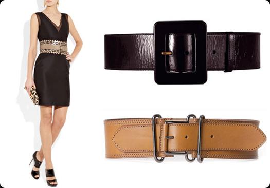 Wide Belt + Body-Con Dress
