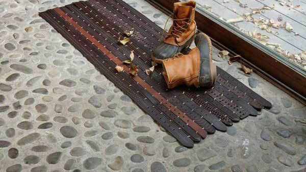 Carpet made with belts