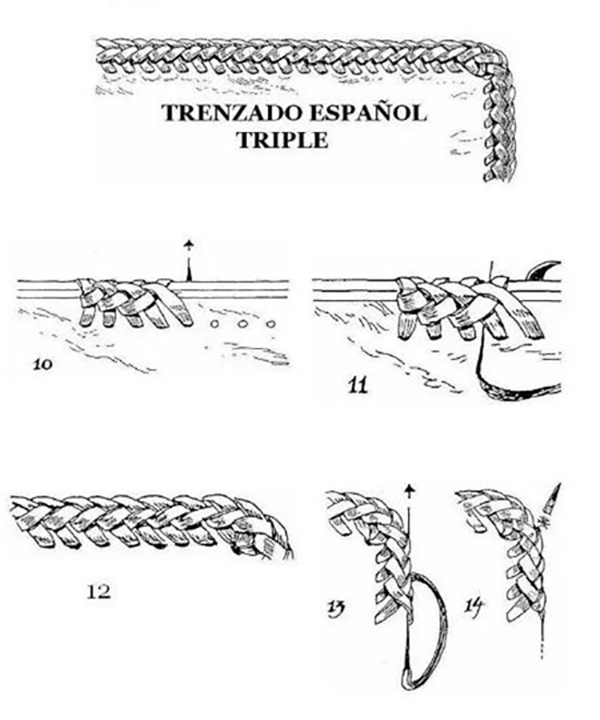 Tenth Method of Leather Weaving(2)