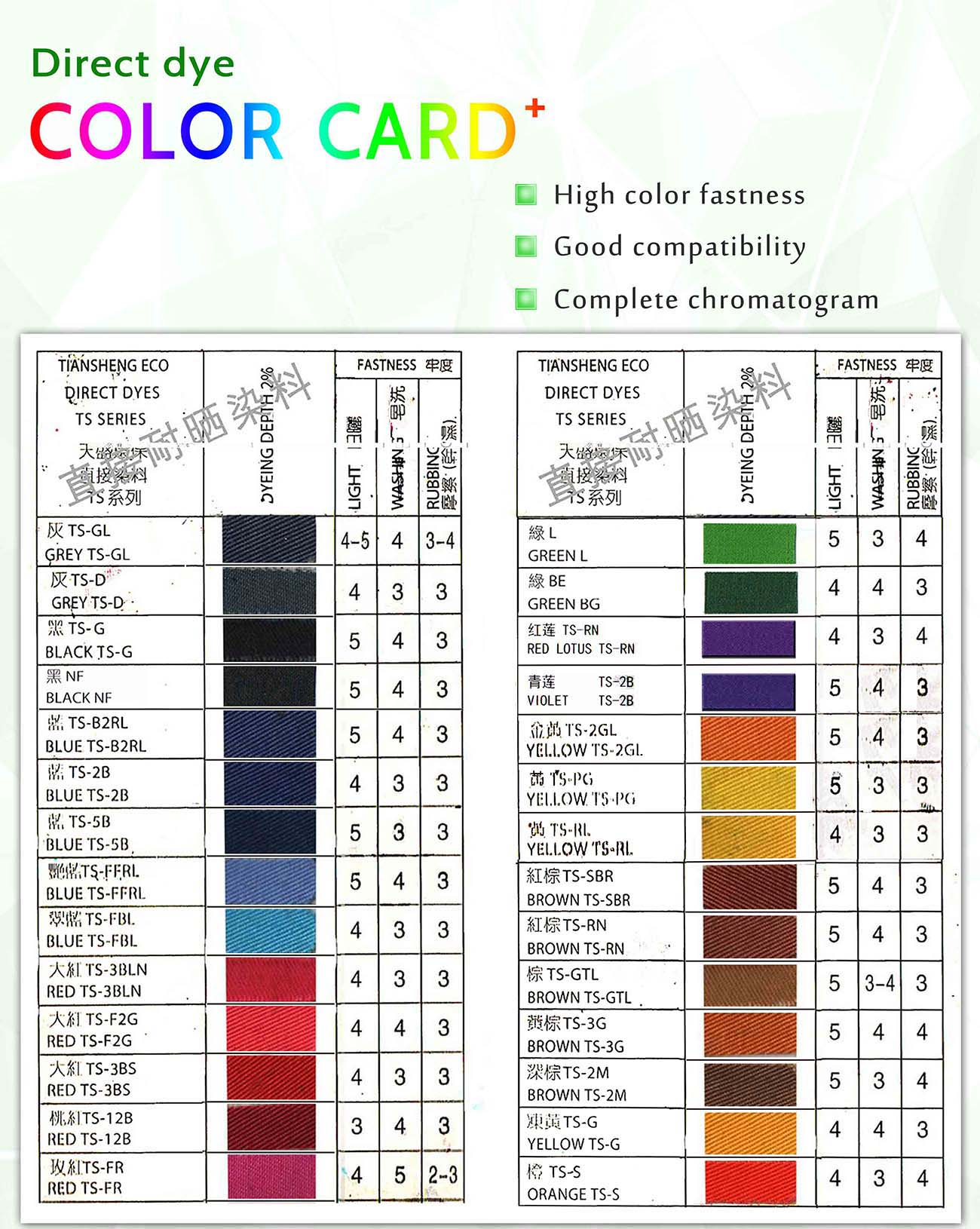 Direct Dyes Colors